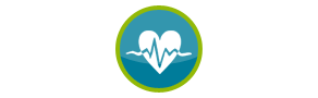 Heart with Diagnostics Icon